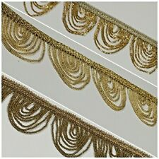 Fancy Gold Loop 1920's Hole Fringe Sari Border Bridal M1340