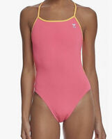 NWT TYR TTSOD7A55530 Womens Solid Trinityfit Swimsuit Pink/Orange Size 30