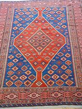 "4'4"" X 5'7"" Gorgeous Antique Caucasian Shiravan Hand-Knotted Wool Oriental Rug"