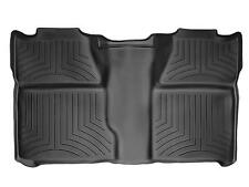 WeatherTech Floor Mat FloorLiner for Silverado/Sierra Crew Cab - 2nd Row -Black