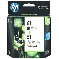 2019-2020 HP #61 RETAIL BOX Combo Ink Cartridges 61 Black & Color NEW GENUINE