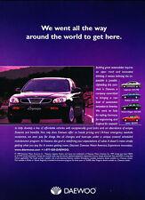 2000 Daewoo Leganza - line intro -  Classic Vintage Advertisement Ad D08