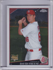 2009 TOPPS CHROME #199 DAVID FREESE ROOKIE RC ST. LOUIS CARDINALS