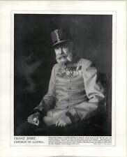 WW1 Franco ruso Alianza Franz Joseph emperador de Austria