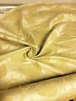 LUXURIOUS LIGHT GOLD DAMASK CURTAIN UPHOLSTERY FABRIC 3.3 METRES