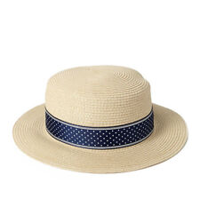 Forever 21 Star Print Straw Boater Hat