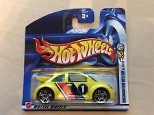 HOT WHEELS Volkswagon New Beetle Cup ON SHORT CARD 33/42 Brand New in Packet