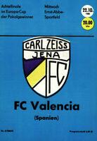 CWC - EC II 80/81 FC Carl Zeiss Jena - FC Valencia, 22.10.1980