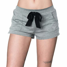 Metal Mulisha Women's Bomber Shorts Cotton Blend Front Tie Pajama Shorts