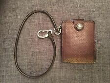 Round Leather Wallet Chain/ Key Lanyard, With A4 Marine Grade Steel Fittings
