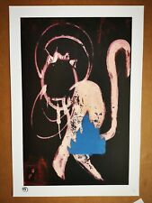 ROBERT DEL NAJA - 3D - POW PICTURES ON WALL - IN THE DARK - SIGNED Print