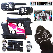 POLICE PLAY SET SHOT GUN PISTOL BULLET WALKIE TALKIE TELESCOPE WATCH COMPASS TOY