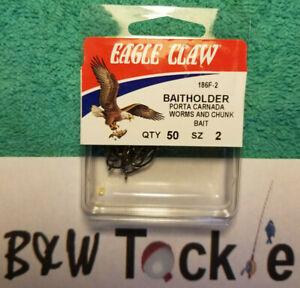 EAGLE CLAW BAITHOLDER HOOK SIZE 2, 4or 6 BRONZE 50-COUNT