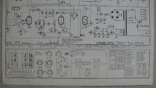LOEWE OPTA Typ 2737 W Planet Schaltplan Ausgabe 1, Stand 03/57