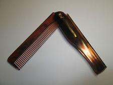 Folding Beard & Moustache Comb - Fat Jack's Tash Wax Brand - Fast & Free Postage