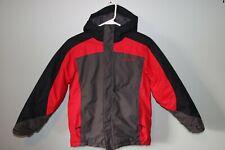 Boys Columbia Youth 10/12 Red/Gray Winter Snow Ski Jacket Coat Hooded