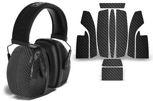 Sticker Wrap Decal  Fits: Howard Leight Impact Noise Ear Shooting Muffs CARBON