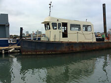 47ft EX-LIGHTERMAN LAUNCH, WOULD MAKE IDEAL FISHING BOAT & LIVEABOARD, PROJECT