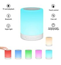 Enkman Table Lamp Portable Bluetooth Speaker,Rechargeable Night Light with Hook