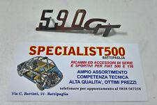 FIAT 500 F/L/R SCRITTA CRUSCOTTO 590 GT GIANNINI  IN METALLO CROMATO