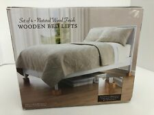 Wooden Bed Lifts Natural Wood SET OF 4 (Bed,Bath,& Beyond) FAST FREE SHIPPING!!