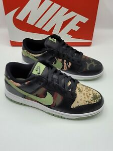 Nike Dunk Low Crazy Camo Black Multi Shoe Trainers Size 8 UK NEW