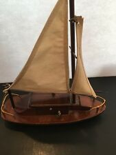 Ts 704 Music Box Sail Boat Near Mint Condition From Taiwan George Good Corp