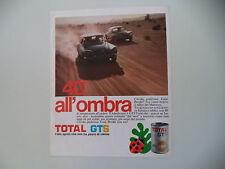 advertising Pubblicità 1972 OLIO TOTAL e CITROEN ID/DS RALLY
