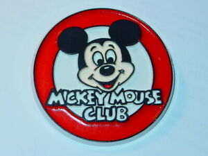 DISNEY MICKEY MOUSE CLUB VINTAGE AMERICANA 1980's 2 Inch PLASTIC BUTTON NOS