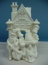 Partylite White Bisque Bakery Carolers Tealight Candle Holder
