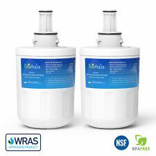 2 x EcoAqua Ice & Water Fridge Filter to replace Wpro APP100/1, 484000000513