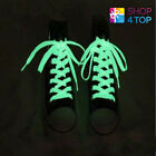 GLOW IN THE DARK SHOELACES LACES BRIGHT TRAINERS WHITE ACCESSORIES NOVELTY NEW