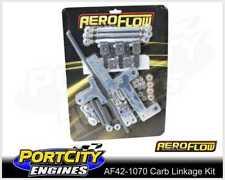 Aeroflow Dual Carb Blower Linkage Kit Holley 4150 Series Chrome AF42-1070