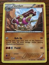 GURDURR Pokemon Card BLACK & WHITE New 60/114 Mint / Near Mint - Fighting Type