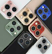 Full Cover Metal Camera Lens Screen Ring Slim Film for iPhone 11 Pro MAX