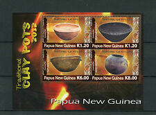 Papua New Guinea 2012 MNH Traditional Clay Pots 4v M/S Cooking Milne Bay Sepik