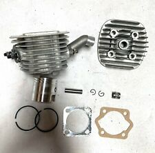 """80cc engine motor -cylinder piston high hole 1 1/16""""B bearing topend 8mm silver"""