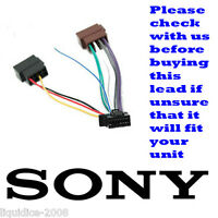 SONY 16 PIN TO ISO REPLACEMENT POWER LEAD DSX-A40UI DSX-A42UI CDX-GT270MP
