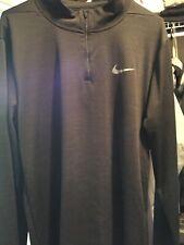 Nike Running Dri-Fit Men's Black 1/4 Zip Ls Pullover Shirt