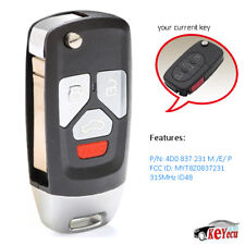 Upgraded Replacment Flip Remote Key Fob for Audi TT A4 A6 A8 97-05 MYT8Z0837231