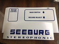 Seeburg Decal Sticker Set For Jukebox