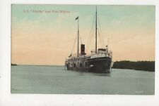 Steamship SS Alberta Near Fort William Vintage Postcard Canada 609a