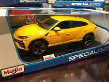 ALL NEW Maisto 1:18 Scale Diecast Model Car - Lamborghini Urus (Yellow)