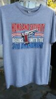 Homeland Security 2nd Amendment Gun T Shirt Size Medium