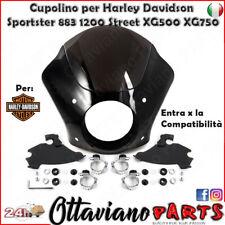 Cupolino Carena + Kit Fissaggio per Harley-Davidson Nero M18