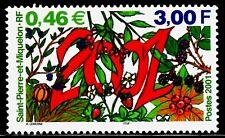 SELLOS SAN PEDRO Y MIQUELON 2001 737 NAVI 1v.