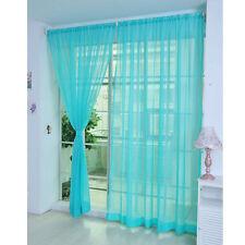 2Pcs Floral Tulle Voile Door Window Curtain Drape Panel Sheer Scarf Dividerag J