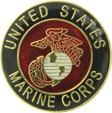 Marine Corps Globe & Anchor Logo Official Round USMC Insignia Pin 1""