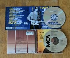Buddy Holly 2 CD Lot - Rave On and For The First Time Anywhere