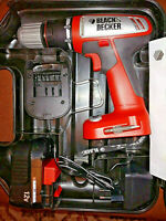 TRAPANO PERCUSSIONE AVVITATORE BLACK+DECKER CP-122-K H1 12V 10nmm / Valigetta